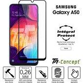 Protège écran Tm Concept Verre trempé intégral Samsung A50 - Noir