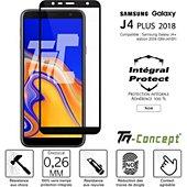 Protège écran Tm Concept Verre trempé - Samsung J4+ (2018) - Noir