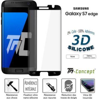Tm Concept Verre trempé 3D - Samsung S7 Edge - Noir