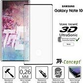Protège écran Tm Concept Verre trempé 3D - Samsung Note 10 - Noir
