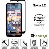 Protège écran Tm Concept Verre trempé intégral - Nokia 3.2 - Noir