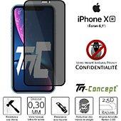 Protège écran Tm Concept Verre trempé teinté Apple iPhone XR Noir