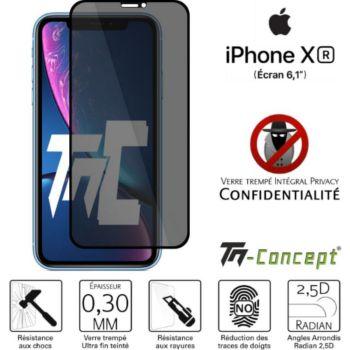 Tm Concept Verre trempé teinté Apple iPhone XR Noir