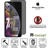 Protège écran Tm Concept Verre trempé teinté iPhone XS Max - Noir