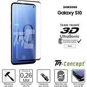 Protège écran Tm Concept Verre trempé 3D Samsung Galaxy S10 Noir