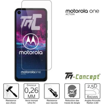Tm Concept Verre trempé - Motorola One Action