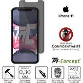 Protège écran Tm Concept Verre trempé teinté - Apple iPhone 11