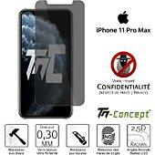 Protège écran Tm Concept Verre trempé teinté - iPhone 11 Pro Max