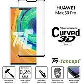 Protège écran Tm Concept Verre trempé 3D Huawei Mate 30 Pro Noir