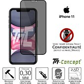 Protège écran Tm Concept Verre trempé teinté Apple iPhone 11 Noir