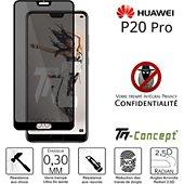 Protège écran Tm Concept Verre trempé teinté Huawei P20 Pro Noir