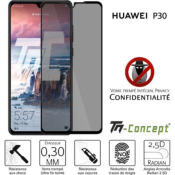 Tm Concept Verre trempé teinté - Huawei P30 - Noir