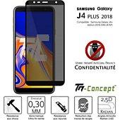 Protège écran Tm Concept Verre trempé teinté - Samsung J4+ (2018)