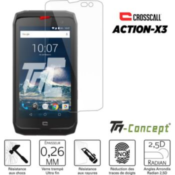 Tm Concept Verre trempé pour Crosscall Action X3