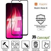 Protège écran Tm Concept Verre trempé - Xiaomi Redmi Note 8 Noir