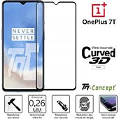 Protège écran Tm Concept Verre trempé 3D - OnePlus 7T - Noir