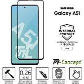 Protège écran Tm Concept Verre trempé - Samsung Galaxy A51 - Noir
