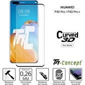 Protège écran Tm Concept Verre trempé 3D - Huawei P40 Pro - Noir