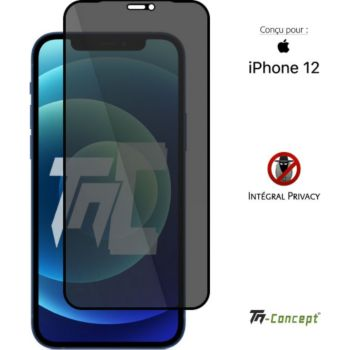 Tm Concept Verre trempé teinté - iPhone 12 - Noir