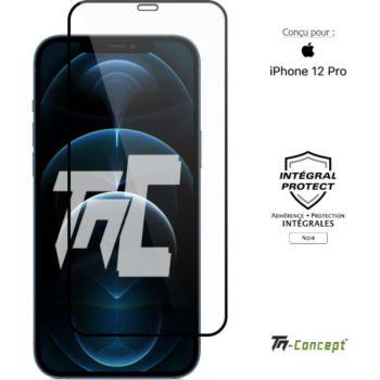 Tm Concept Verre trempé intégral iPhone 12 Pro Noir