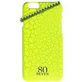 Coque So Seven iPhone 6/6S Fluo jaune craquelé+Bracelet