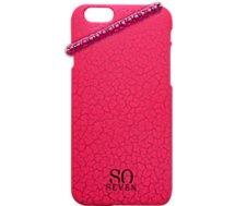 Coque So Seven  iPhone 5/5S Fluo rose craquelé+Bracelet