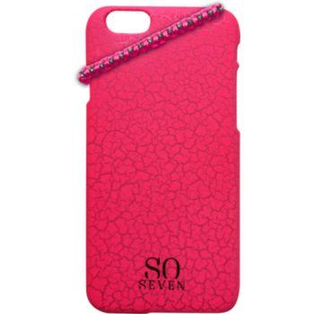 So Seven iPhone 5/5S Fluo rose craquelé+Bracelet