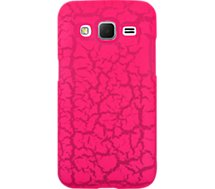 Coque So Seven  Grand Prime Fluo rose craquelé+Bracelet