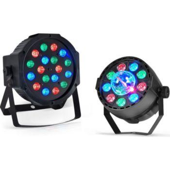 Pur Light Jeu de lumière-Projecteur PAR LED 18x1W