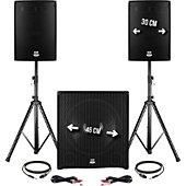 Enceinte sono Bm Sonic Pack sonorisation DJ 2400W - Subwoofer 4