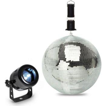 Expelec Pack lumière Projecteur à LED + Boule à