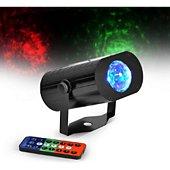 Jeu de lumières Party light&Sound Jeu de lumière à LEDs 9W RGB 3-en-1 effe