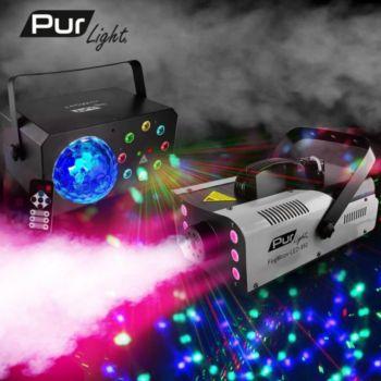 Pur Light Machine à fumée 3-en-1 LEDs RGB 900W + J
