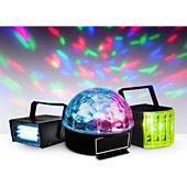Jeu de lumières Party light&Sound Pack 3 jeux de lumière à LEDs - 1 Mini s