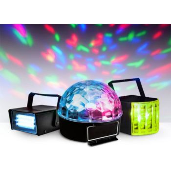 Party light&Sound Pack 3 jeux de lumière à LEDs - 1 Mini s