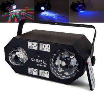 Ibiza Jeu de lumière 4-en-1 à LED RVBB - ASTRO