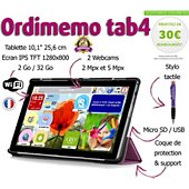 Tablette senior Ordimemo TAB4 2/32 10.1 1280x800 COQUE+STYLET