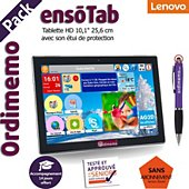 Tablette senior Ordimemo Pack ensoTab 2/32 10.1 HD WiFi Noir