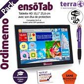 Tablette senior Ordimemo Pack ensoTab 2/32 10.1 4G+WiFi Noir