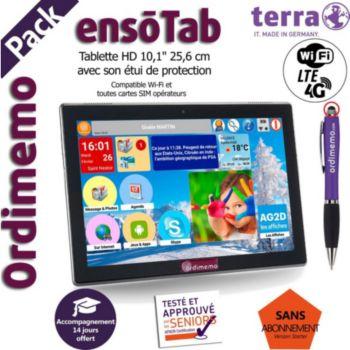 Ordimemo Pack ensoTab 2/32 10.1 4G+WiFi Noir
