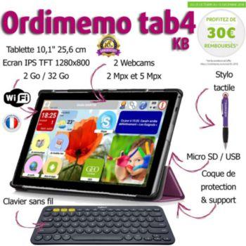 Ordimemo TAB4 2/32 10.1 1280x800 KB+COQUE+STYLET