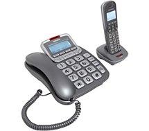 Téléphone filaire Telefunken  Cosi TF652 Duo Rép Argent