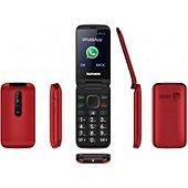 Téléphone portable Telefunken Téléphone portable à clapet avec Faceboo