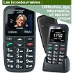 Téléphone portable Mobiho Le classic initial noir