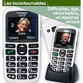 Téléphone portable Mobiho Le classic initial blanc