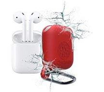 Coque Caseproof  Airpods Etanche et Antichoc rouge