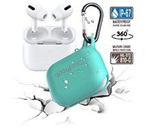Etui Caseproof  Airpods Pro Etanche/Antichoc turquoise