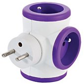 Multiprise Watt And Co rotative 3x16A Violet
