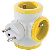 Multiprise Watt And Co rotative 3x16A Jaune