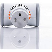 Multiprise Watt And Co Bloc prise Biplite  2x16A rotatif - Gris